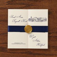 Elegant Wedding Program  multifold with custom by paperfreckles, $100.00