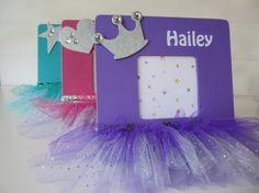 Personalized Tutu Photo Frame Ballerina by ComfortsofHomeDecor