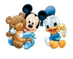 Baby Mickey and baby Donald