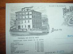 """1918 """"Beautiful Train Scene of Blackburn Russell Business in Bedford PA Letter"""