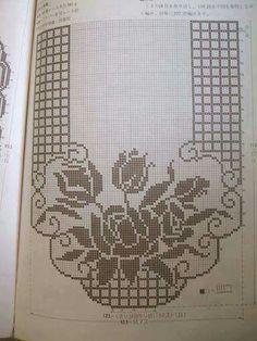 Desen Crochet Table Runner Pattern, Crochet Doily Patterns, Crochet Tablecloth, Crochet Designs, Crochet Doilies, Sewing Patterns, Dress Patterns, Filet Crochet Charts, C2c Crochet
