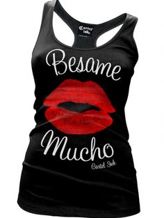 "Women's ""Besame Mucho"" Tank by Cartel Ink (Black)"