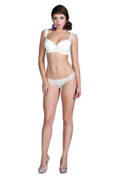 Parfait Honey Padded Moulded Bra and Bikini Brief in Ivory