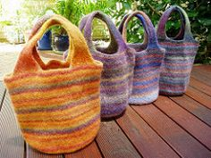 Ravelry: 1morerow's Felted Bags