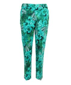 Fiona Capri Pant, NAVY/IVORY, hi-res | Fashion - Patterned Pants ...