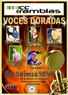 día 9 de 18:00-20:00 Castillo Hinchable,globoflexia  Roscas día10 a11:30-13:30 Taller Infantil y a19.00 Voces Doradas