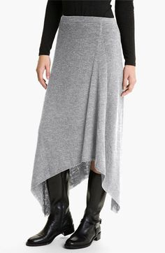 Eileen Fisher Merino Jersey Rib Knit Skirt  (Online Exclusive) available at #Nordstrom