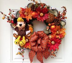 Mickey Mouse Thanksgiving Wreath by SparkleForYourCastle on Etsy