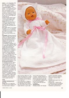 "Photo from album ""Одежда для Baby Born on Yandex. Knitting Dolls Clothes, Knitted Dolls, Doll Clothes Patterns, Crochet Dolls, Doll Patterns, Crochet Baby, Girl Dolls, Baby Dolls, Baby Born Clothes"