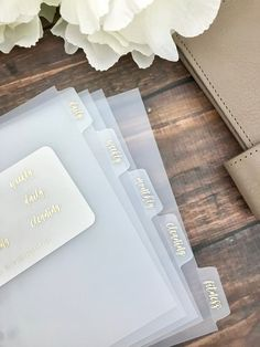 Girl Boss Foiled Clear Divider Tabs Modular System Labels – Planner Press - Planner Dashboards, Dividers and Sticker Kits