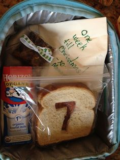 Cute idea: Use cookie cutters to countdown days till Christmas in your kiddos lunch.