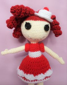 Crochet Lalaloopsy Look-alike Doll for by KnitsNblingz on Etsy