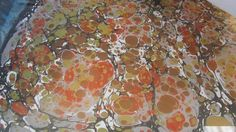 Stone pattern on marbling tray