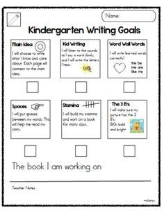 Joyful Learning In KC: Writing, Math and Reading Goals - Kindergarten Writing Goals, Reading Goals, Kids Writing, Teaching Writing, Guided Reading, Writing Rubrics, Teaching Ideas, Writing Ideas, Paragraph Writing