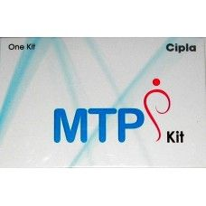 MTP kit (Misoprostol + Mifepristone) the set is a combination of two medicines especially used for medical abortion/termination of intrauterine pregnancy up to 63 days of fertilization. For purposes of this treatment, pregnancy is dated from the first day of the last menstrual period in a presumed 28 days cycle with ovulation occurring at mid-cycle
