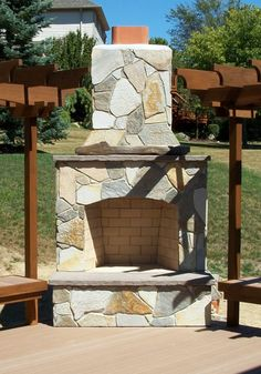 Over 100 Outdoor Fireplace Design Ideas Http://www.pinterest.com/