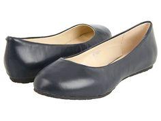 Fitzwell Kylie Slip-On Flat Navy Nappa - 6pm.com bm shoes? $20.70