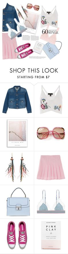 """""""60 second style"""" by gul07 ❤ liked on Polyvore featuring Monki, Topshop, Anja, Etro, Dolce&Gabbana, LoveStories, Converse, Herbivore and Hanky Panky"""