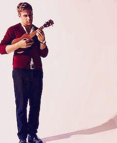Ryan Gosling. Oh, and he has a ukulele.