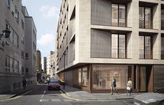 25 Savile Row | Stanton Williams Architects Brick Architecture, Architecture Visualization, Concept Architecture, Residential Architecture, Stone Facade, Brick Facade, Building Facade, Building Design, Facade Design