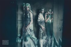 high fashion couture editorial photography | Photographer: Paolo Roversi Vogue Italia September 2011