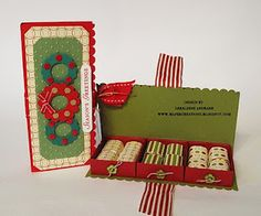 Stampin' Up!  Matchbox - Christmas treat and it doesn't use the matchbox lid.. yesss haha