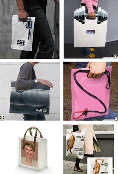 These are designs for European shopping bags.