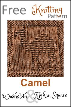 Free Camel Dishcloth or Afghan Square Knitting Pattern - Daisy and Storm Knitted Dishcloth Patterns Free, Knitting Squares, Knitted Washcloths, Knit Dishcloth, Knitting Charts, Easy Knitting, Baby Knitting Patterns, Knitting Ideas, Knitting Projects