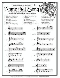Espanpin - Name that Song Fill in the Blank Free Printable Christmas Game Christmas Trivia Games, Printable Christmas Games, Christmas Worksheets, Christmas Activities, Xmas Games, Holiday Games, Holiday Ideas, Christmas Puzzle, Christmas Tunes