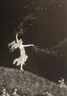 No pessimist ever discovered the secrets of the stars, or sailed to an uncharted land, or opened a new heaven to the human spirit.-Helen Keller #art | Ida Rentoul Outhwaite