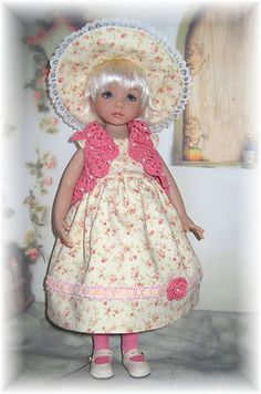 """Summer Outfit for 13"""" Little Darling Doll from Dianna Effner Studios"""