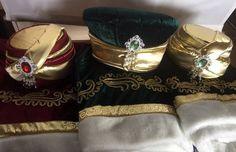 CUSTOM made, black kaftan and gold fez hats,Creen kaftan and hat fez,burgundy kaftan and hat fez, Ethnic Turkish Clothing, traditional dress by PAPILLONworkshop on Etsy