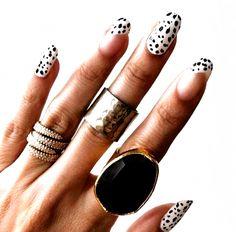 Nail Tattoo, Acrylic Nail Designs, Nail Art Designs, Acrylic Nails, Short Gel Nails, Polka Dot Nails, Minimalist Nails, Stylish Nails, Winter Nails