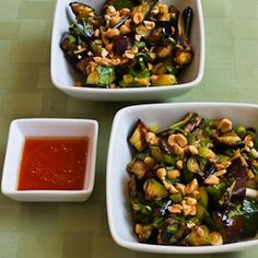 Kalyn's Kitchen®: Recipe for Spicy Grilled Eggplant and Zucchini Salad with Thai Flavors
