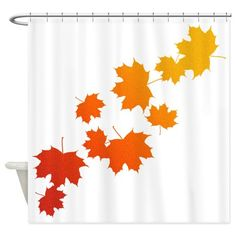 Autumn Leaves Shower Curtain on CafePress.com