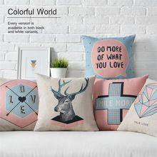 Original design minimaliste rose coussin Nordique géométrique coton taie d'oreiller creative canapé moelleux coussin couverture Almofada Cojines(China (Mainland))
