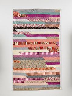 Flower stripes quilt by Wise Craft Handmade