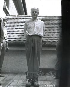 Eduard Krebsbach immediately before his execution in Landsberg prison. 28.05.1947. He was a former German physician and SS doctor in Mauthausen concentration camp and was responsible for initiating mass killing by lethal injection to the heart on handicapped and sick prisoners.