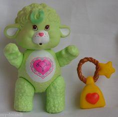 "Vintage 1985 Care Bear Cousin GENTLE HEART LAMB 3"" Poseable Figure"