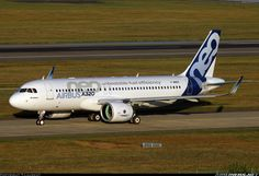 First A320 Neo performing some taxiing test prior first flight.