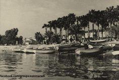 Mersin Sahil 1950 ler.....Cumhuriyet alanı palmiyeler önü...Atatürk parkı önceci