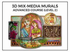 Mural Art Video Tutorials - by Muralguru Bharat Rawal Mural Painting, Mural Art, Murals, Clay Wall Art, Clay Art, Cardboard Crafts, Clay Crafts, Online Tutorials, Video Tutorials