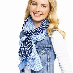 French Print Scarf - Clever Girl