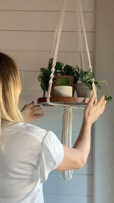 Macrame Wall Hanging Diy, Macrame Hanging Planter, Diy Hanging Shelves, Plant Shelves, Hanging Planters, Hanging Plant Diy, Indoor Plant Hangers, Macrame Plant Hanger Patterns, Macrame Plant Hangers
