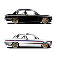 Illustrations of BMW E21 1980
