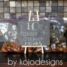 Crockpot Freezer Cooking Recipes