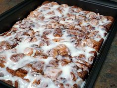 Cinnamon Roll French Toast Bake made with canned cinnamon rolls.