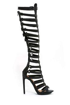 6b35a61e8bb Shoe Cult Advantage Gladiator Heel. Gladiator Sandals HeelsBlack High ...