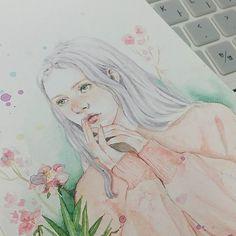 #watetcolor #painting #flowers #girl #illust #illustration #spring #drawing #draw #sketch #artworks #paint #plant #꽃그림 #봄 #스프링 #소녀 #일러스트 #드로잉 #수채화