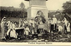 Picture from Romania, early XX-th century, traditional Romanian Folk Costumes, from Arges county. Folk Costume, Costumes, City People, Bucharest Romania, Poster, Europe, Textiles, Traditional, Gallery